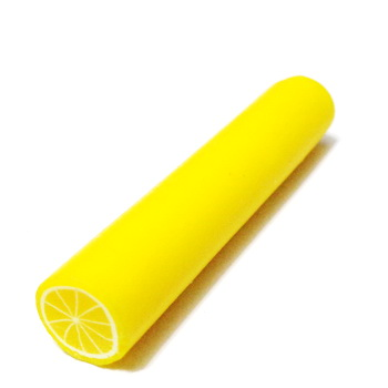 Bete fimo galben-deschis, 50x9-11mm 1 buc