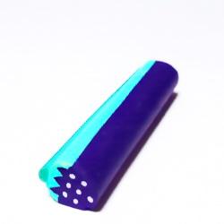 Bete fimo albastru cu verde, 8-11mm, lungime 5cm 1 buc