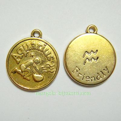 Pandantiv antic auriu, zodiac, VARSATOR, 20x17x2mm 1 buc