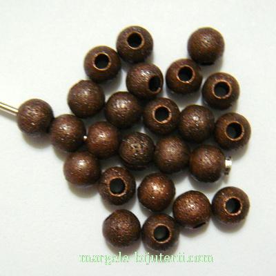 Margele metalice, stardust, cupru, 4mm 1 buc