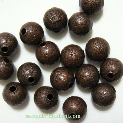 Margele metalice, stardust, cupru, 8mm 1 buc