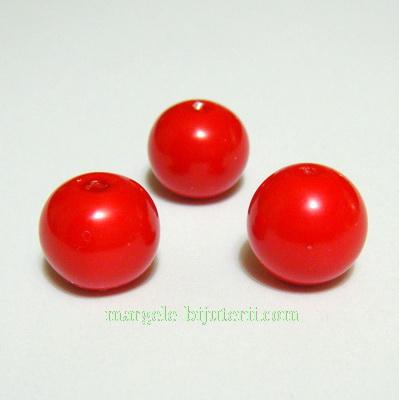 Margele sticla rosii, 12mm 1 buc