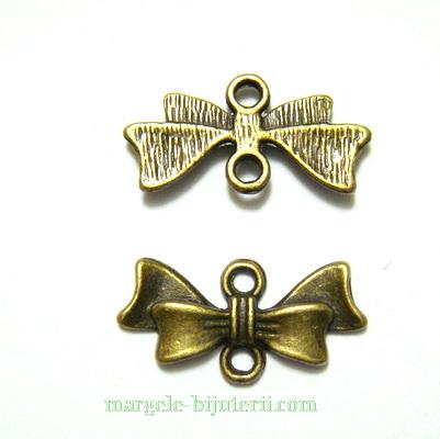 Conector/link bronz, fundita 20x10x3mm 1 buc