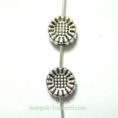 Margele tibetane, argintii, 5x3mm, orificiu: 1mm 1 buc