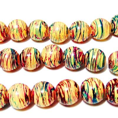 Margele sticla multicolore 12mm 10 buc