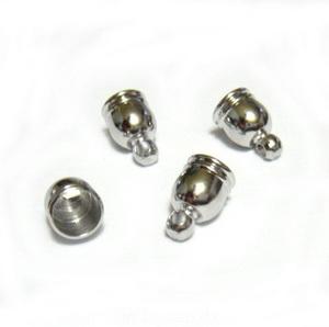 Capat prindere snur, argintiu inchis, pe baza alama,  9x6 mm 1 buc