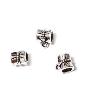 Agatatoare pandantiv, argint tibetan, 10x7x7mm 1 buc