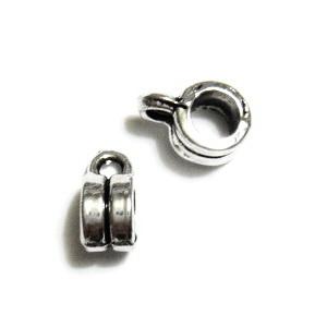 Agatatoare pandantiv, argint tibetan, 6x9x4mm 1 buc