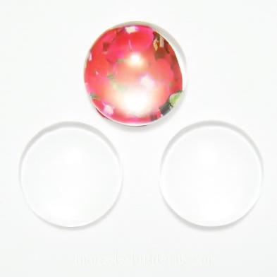 Cabochon sticla transparenta, 14x4.5mm 1 buc