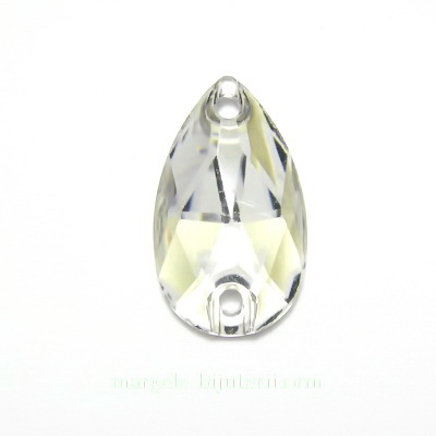 Aplice acrilice pentru cusut, transparente-galbui, lacrima 18x13x4mm 1 buc