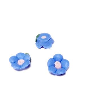 Cabochon portelan, floare albastra, 8~9x8~8.5x3.5~4mm 1 buc