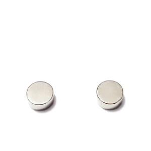 Magnet plat, argintiu, 6x2mm 1 buc