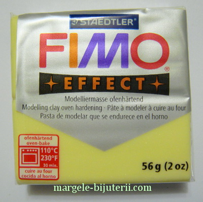 Plastelina fimo effect 56g cod cul 106,  citrine 1 buc