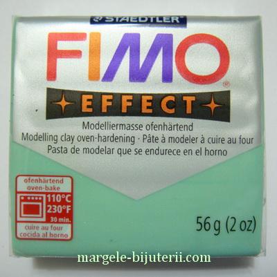 Plastelina fimo effect 56g cod cul 506, jad verde 1 buc