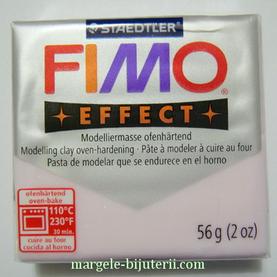 Plastelina fimo effect 56g cod cul 206, rose quartz 1 buc
