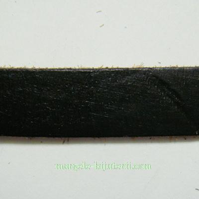 Piele naturala, neagra, 10x2.5mm 1 m