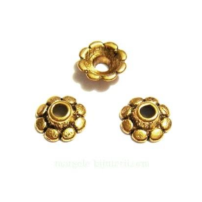 Capacel, auriu antic, 8x3mm 1 buc