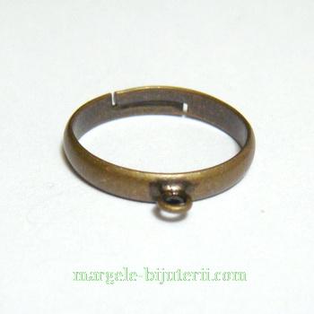 Baza inel, bronz, pe baza alama, reglabila, cu 1 bucla 1 buc