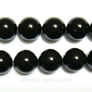 Swarovski Elements, Pearl 5810 Crystal Mystic Black 10mm 1 buc