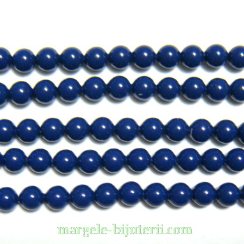 Swarovski Elements, Pearl 5810 Dark Lapis 4mm 1 buc