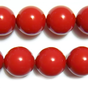 Swarovski Elements, Pearl 5810 Crystal Red Coral 10mm 1 buc