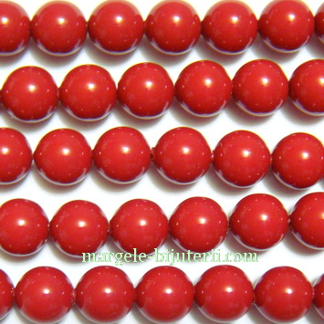 Swarovski Elements, Pearl 5810 Crystal Red Coral 6mm 1 buc