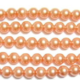 Swarovski Elements, Pearl 5810 Crystal Rose Peach 6mm 1 buc
