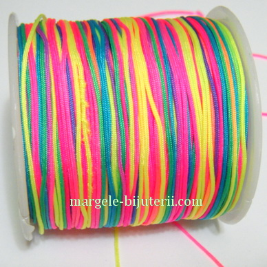 Snur matasos pentru bratari shamballa, multicolor, 1 mm 1 m