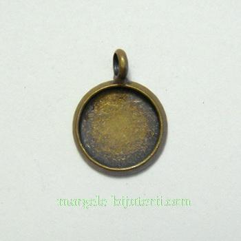Pandantiv, cabochon, bronz, 12mm, interior: 10mm 1 buc