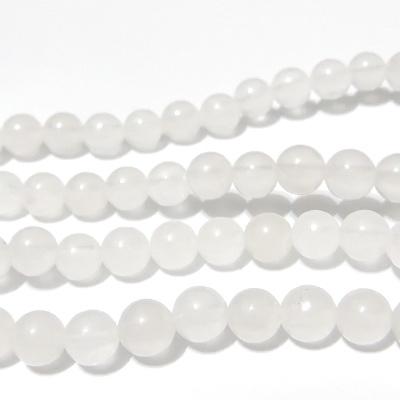 Jad alb, translucid, 6,5 mm 1 buc