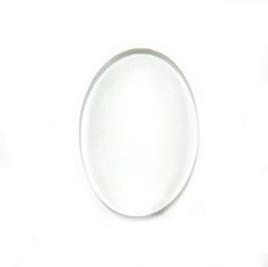 Cabochon sticla transparenta, 25x18x5mm 1 buc