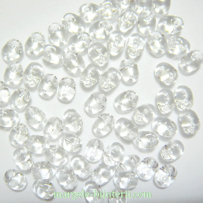 Margele Superduo 2,5x5mm Crystal 5 g
