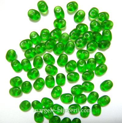 Margele Superduo 2,5x5mm Chrysolite Matted 5 g