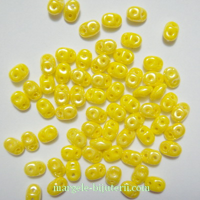 Margele Superduo 2,5x5mm Lemon Shimmer 5 g