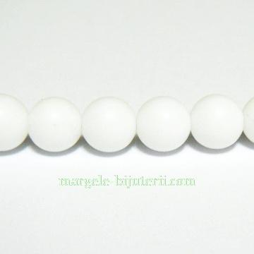 Agata alba, matuita, 6.3mm 1 buc