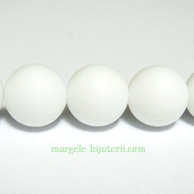 Agata alba, matuita, 10mm 1 buc