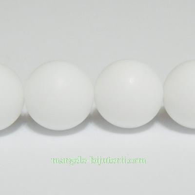 Agata alba, matuita, 12mm 1 buc