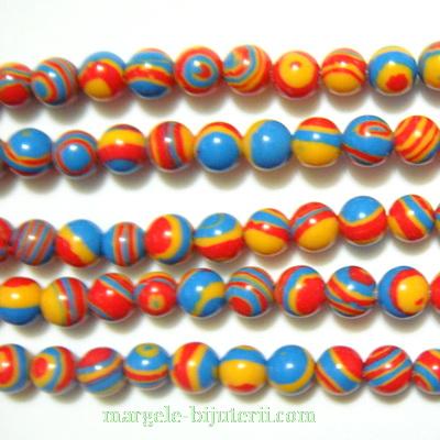 Compozit multicolor, sferic, 6mm 1 buc