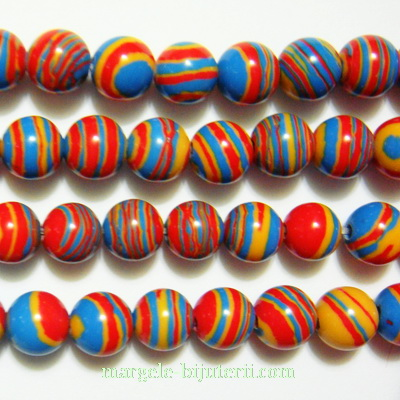 Compozit multicolor, sferic, 8mm 1 buc
