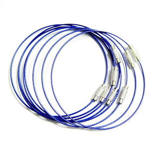 Baza bratara, sarma siliconata, albastra, cu inchizatoare, 7.5cm 1 buc