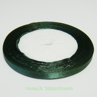 Saten verde inchis, 7mm, rola 25 metri 1 buc