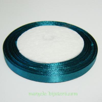 Saten verde-smarald, latime 7mm, rola 25 metri 1 buc