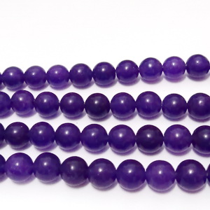 Jad violet, translucid, 6mm 1 buc