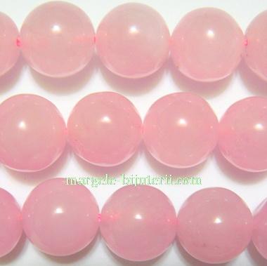 Jad translucid, roz, 10mm 1 buc