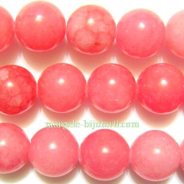 Jad translucid, roz inchis, 10mm 1 buc