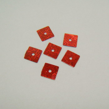 Paiete rosii patrate 7x7mm - 100 buc 2 g