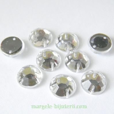 Aplice acrilice pentru cusut, multifete, transparente, 10x4mm 1 buc