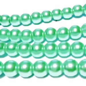Perle sticla, vernil, 8mm 10 buc