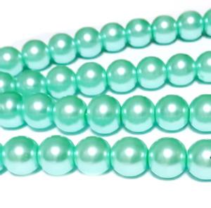 Perle sticla, vernil, 10mm 10 buc