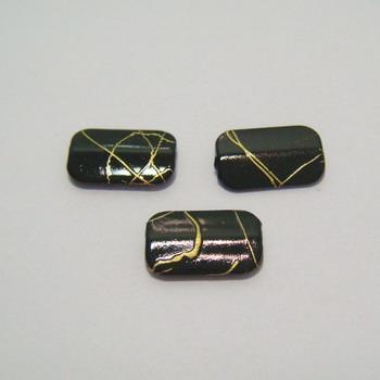 Margele plastic negre rectangulare 18x11mm 10 buc